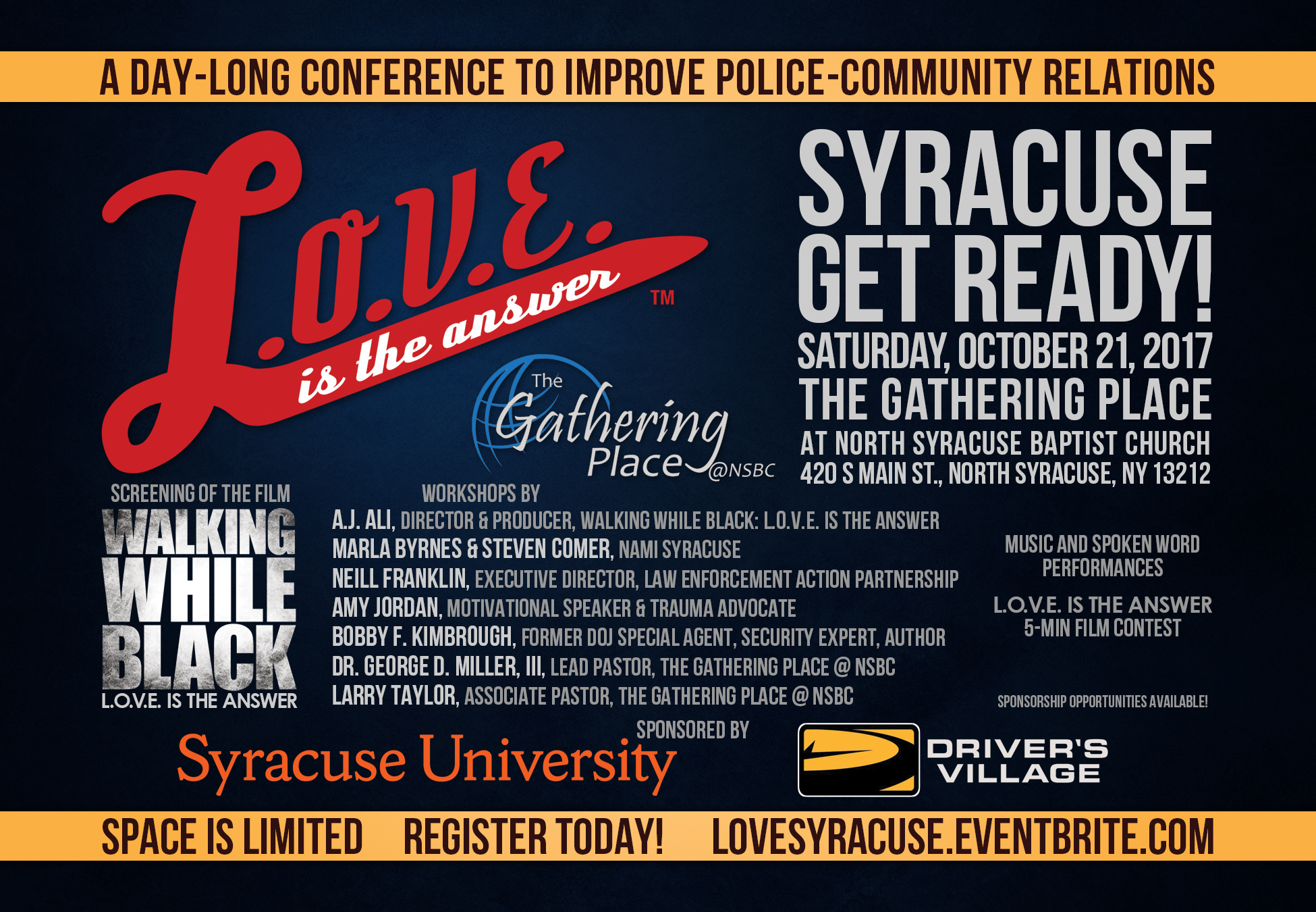 NO LONGER AVAILABLE – L.O.V.E is the Answer Syracuse